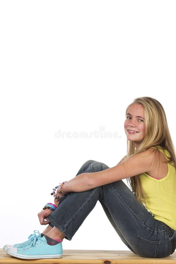 Bel ado blond image libre de droits