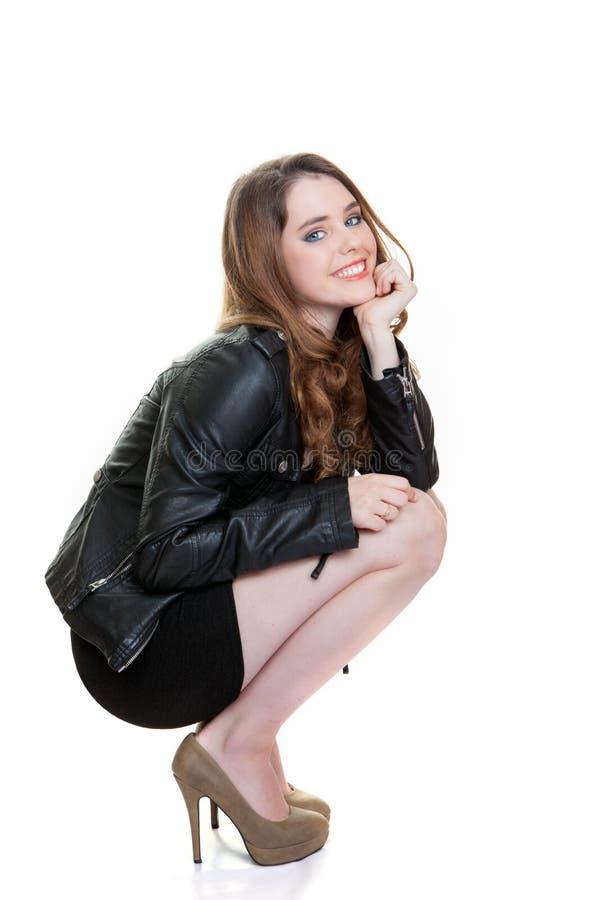 Bel adolescent sûr de mode images stock