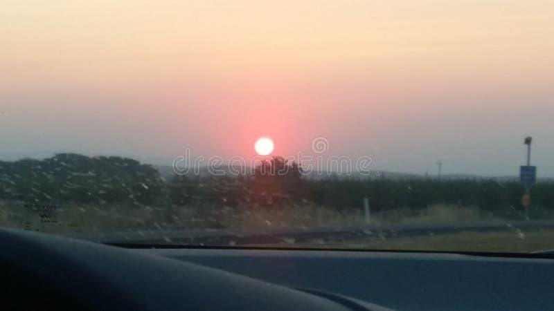 Bel air d'été de la Californie de lever de soleil photographie stock