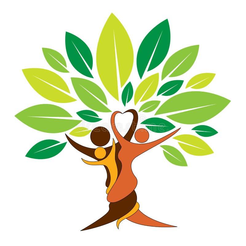Bel arbre généalogique illustration de vecteur