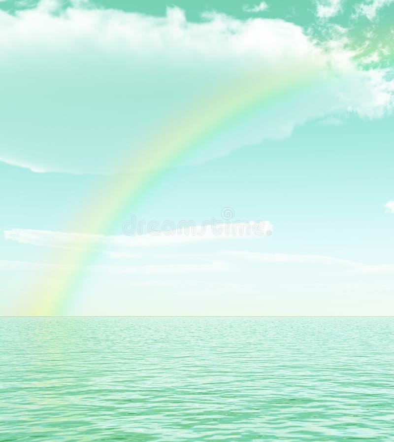Bel arc-en-ciel illustration stock