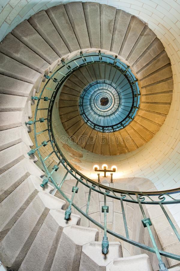Bel escalier de phare photographie stock