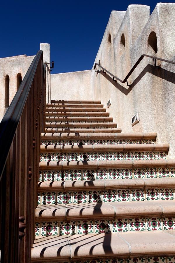 Bel escalier extérieur image libre de droits