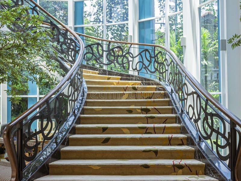 Bel escalier situé à Bandung, Indonésie photo stock