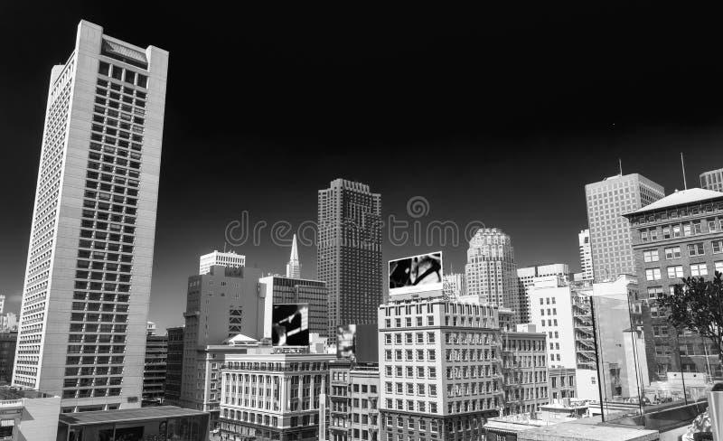 Bel horizon de ville de San Francisco d'Union Square images libres de droits