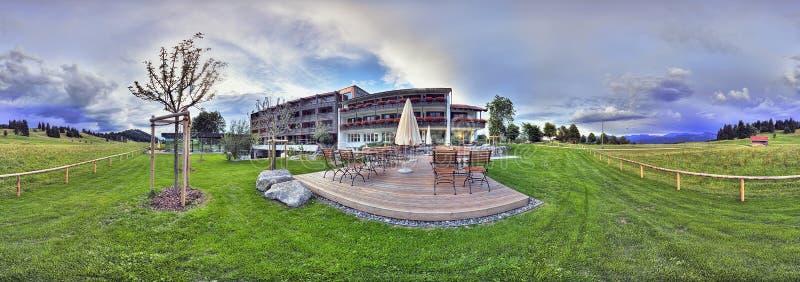 Bel horizontal avec l'hôtel Kaufmann image libre de droits