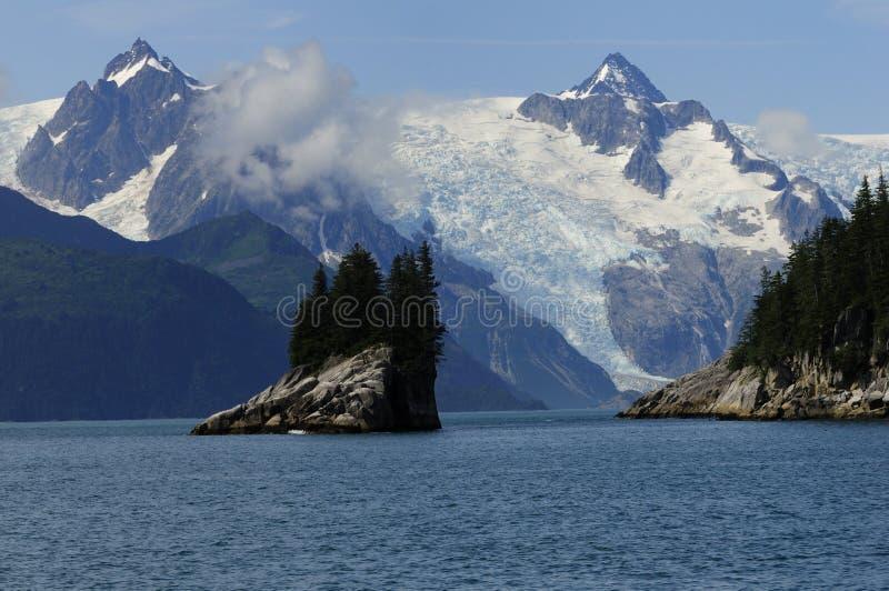 Bel horizontal de l'Alaska image libre de droits