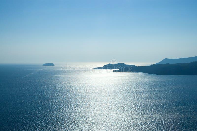 bel horizontal de la Grèce photo libre de droits