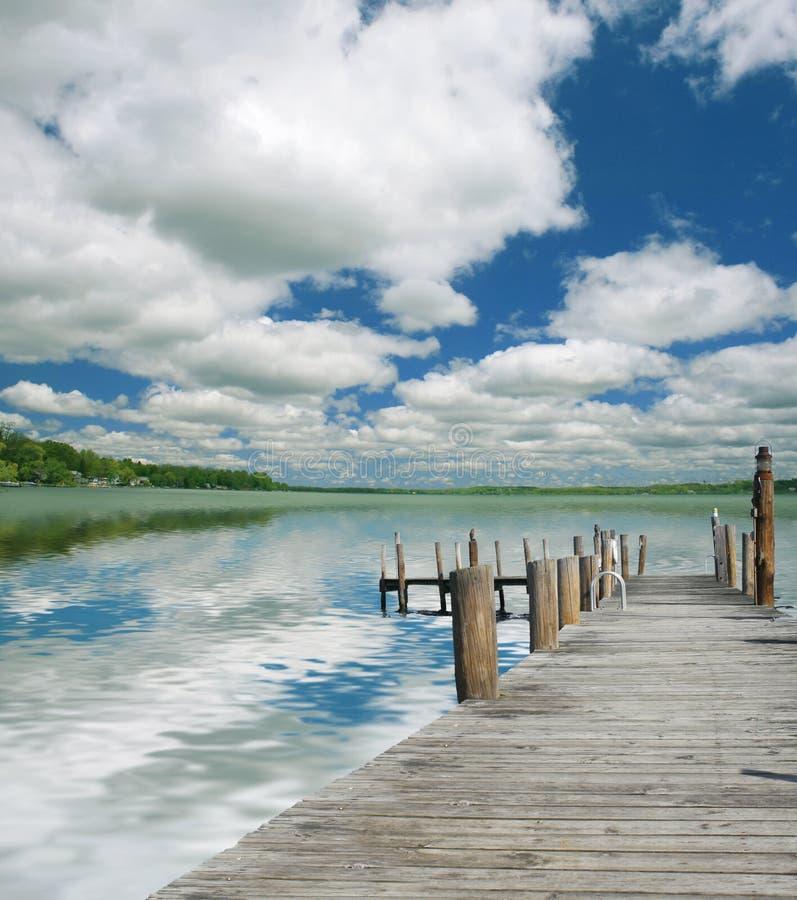 Bel Horizontal De Lac Photographie stock libre de droits