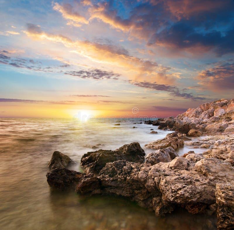 Bel horizontal de mer photographie stock libre de droits