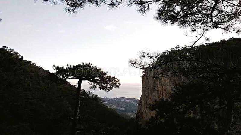 Bel horizontal de montagne photographie stock