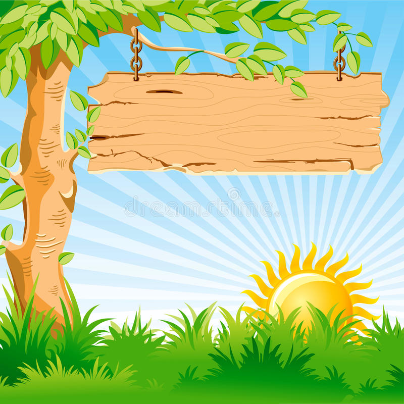 Bel horizontal. Lever de soleil. illustration libre de droits