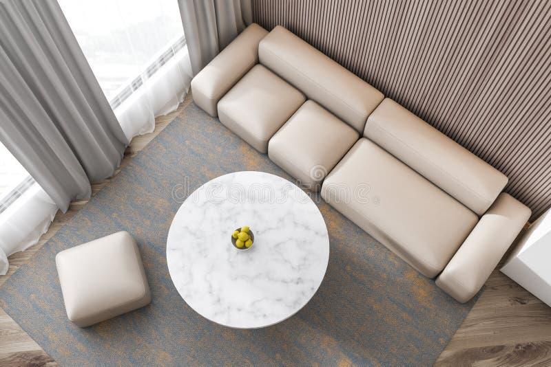 Bel intérieur moderne de sofa de salon illustration de vecteur
