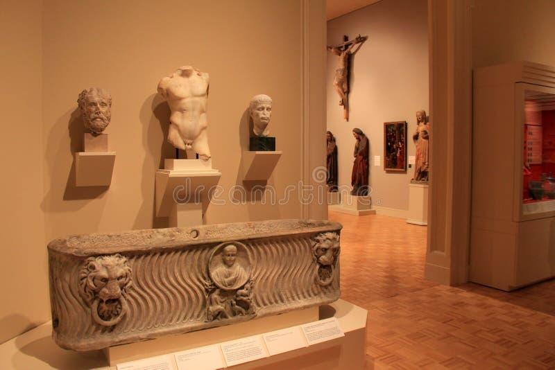 Bel objet exposé des sculptures et des peintures, Art Gallery commémoratif, Rochester, New York, 2017 image libre de droits