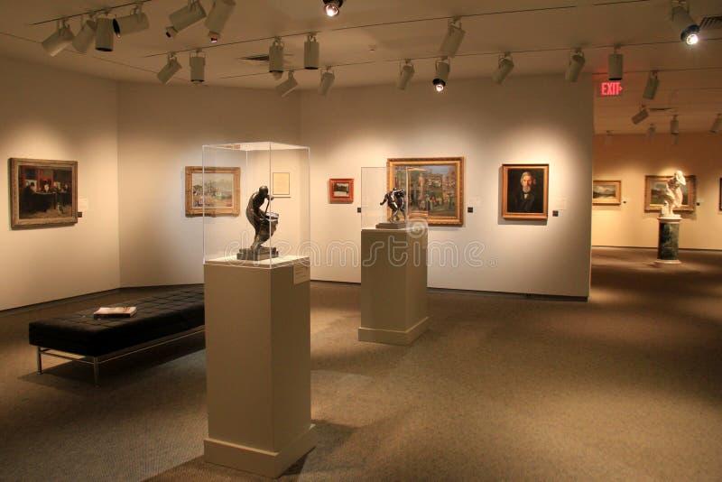 Bel objet exposé des sculptures et des peintures de chef d'oeuvre, Art Gallery commémoratif, Rochester, New York, 2017 photos libres de droits