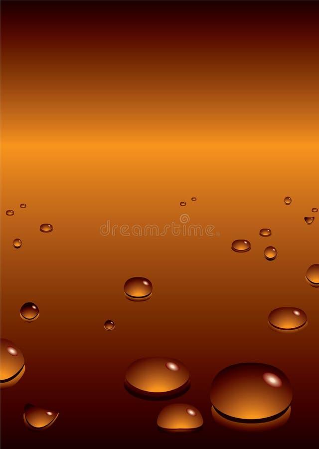 Bel oranje BG vector illustratie