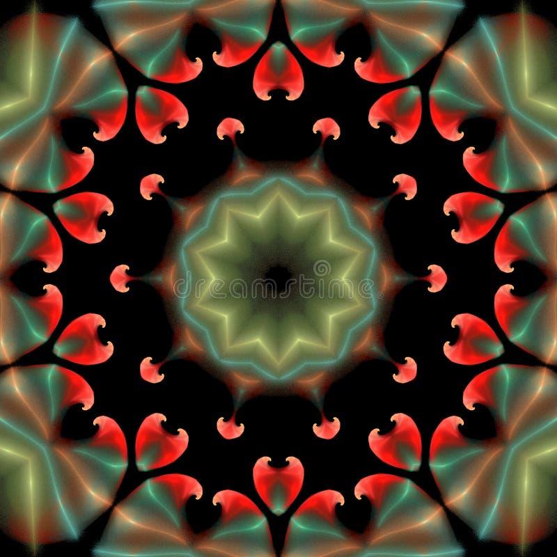 Bel ornement abstrait sur le fond d'isolement par noir illustration stock
