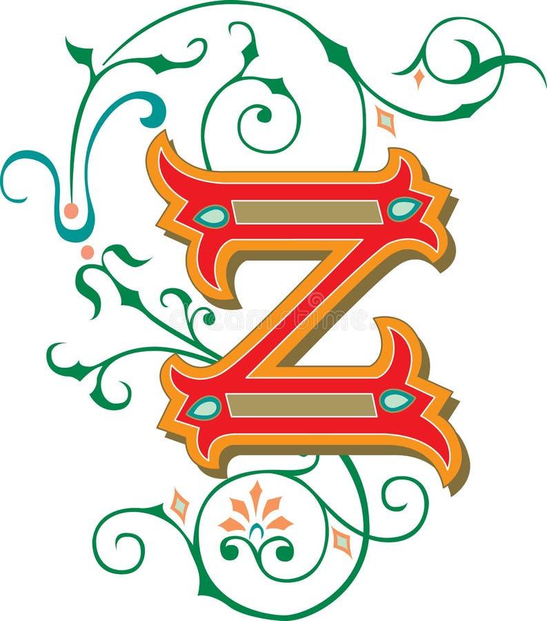 Bel ornement, lettre Z illustration de vecteur