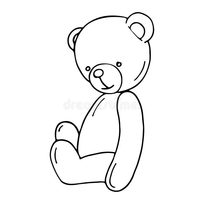 Bel ours de nounours illustration stock