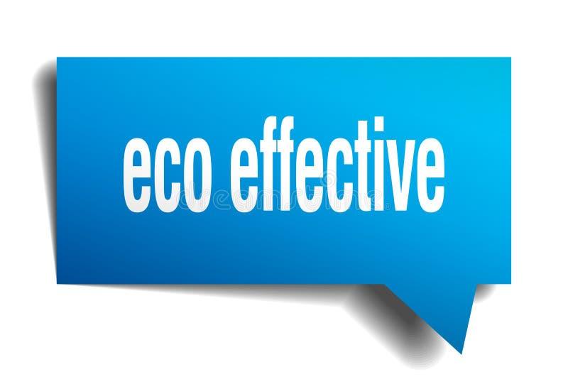 Bel van de Eco de efficiënte blauwe 3d toespraak vector illustratie