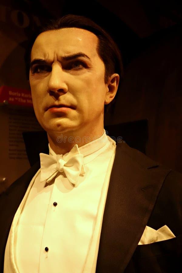 Bela Lugosi Wax Figure arkivfoton