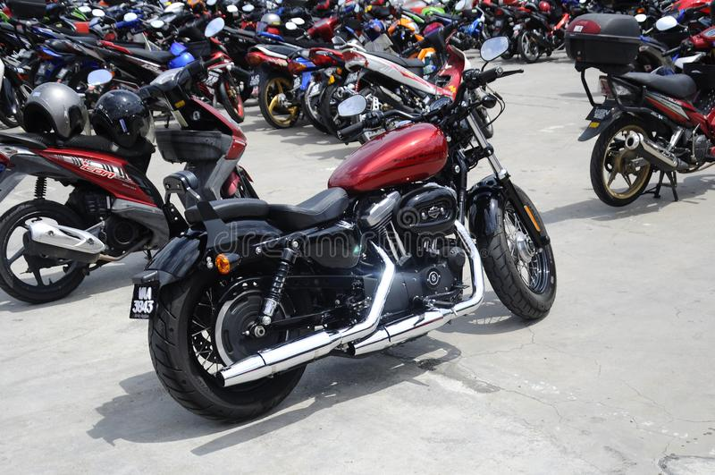 Bela mota americana Harley-Davidson imagens de stock