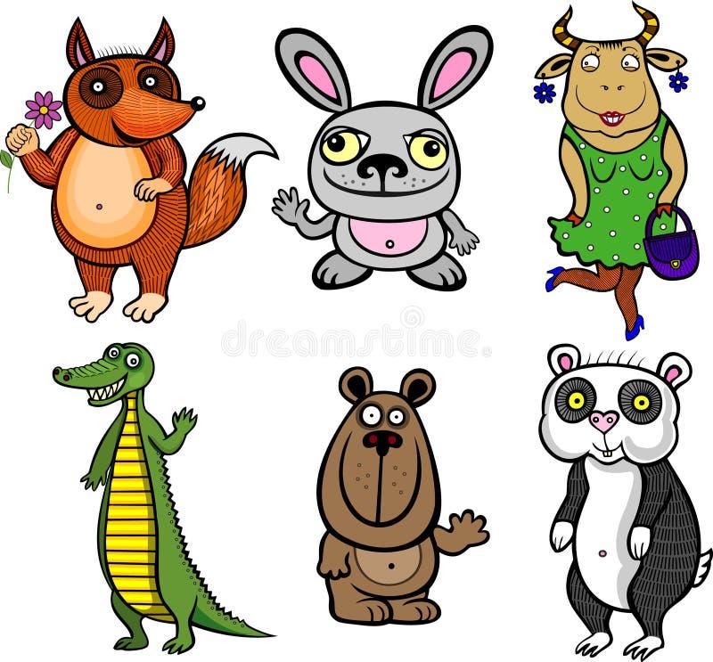 Belachelijke dieren vector illustratie