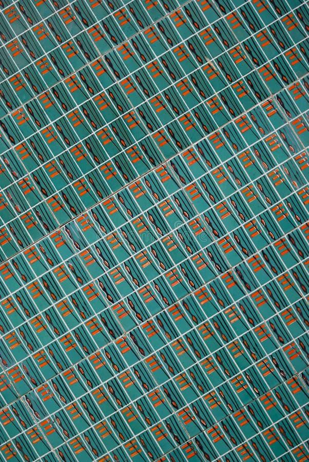 belagd med tegel gammal portugis för azulejosbakgrund arkivbilder