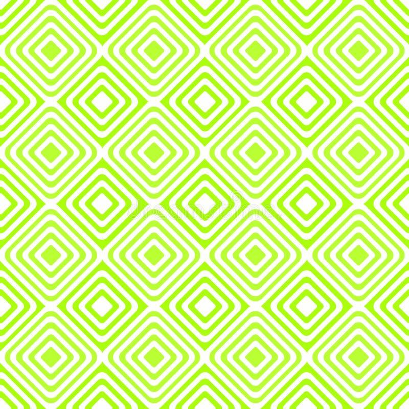 Belagd med tegel gräsplan kvadrerar den sömlösa modellen vektor illustrationer