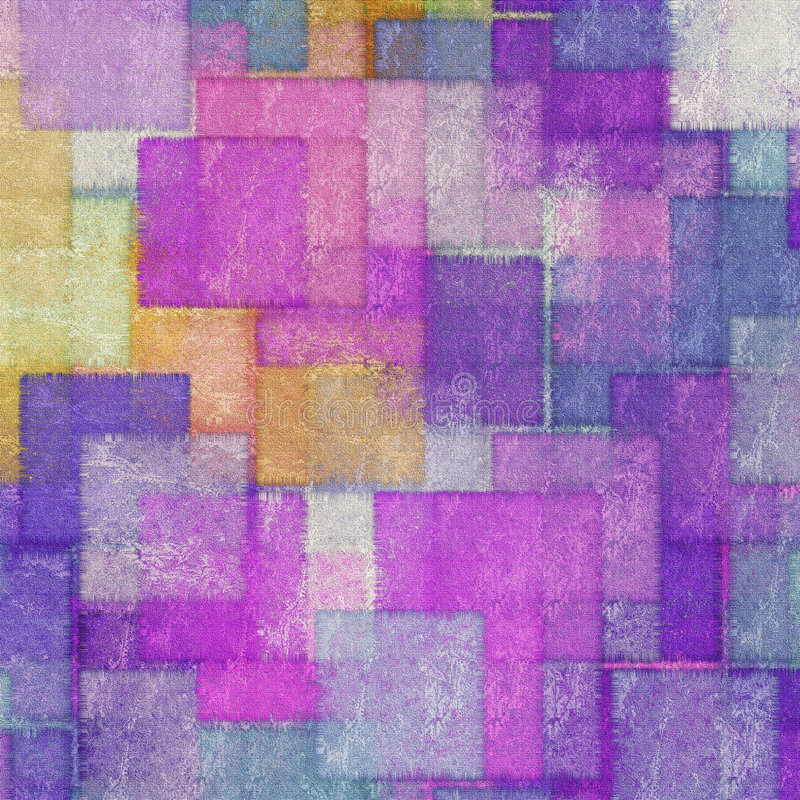 Belagd med tegel kaleidoscope stock illustrationer