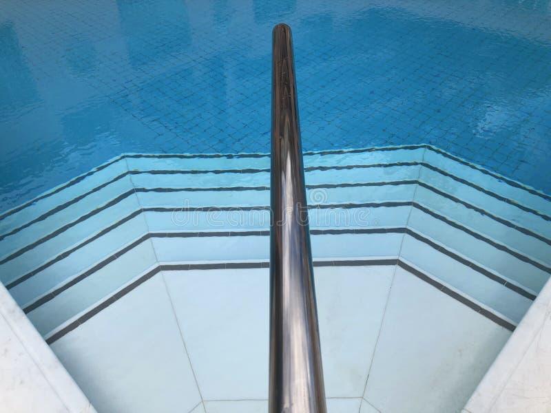 Belagd med tegel simbassäng, slut upp av moment royaltyfri foto