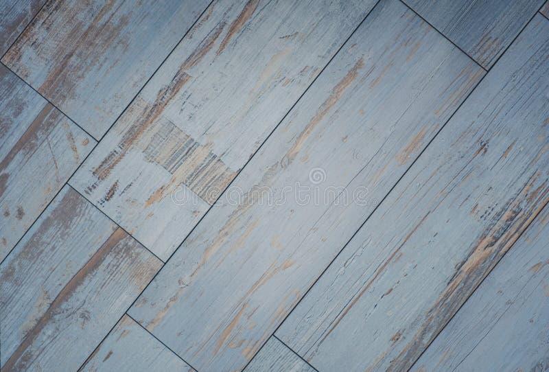 Belagd med tegel träbrädebakgrund - tappningträgolv arkivbilder