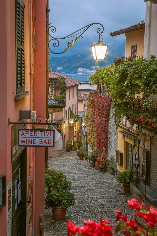 Belaggio, Lake Como, Italy. Small town street view on October 13,2015 in Bellagio, Lake Como, Italy stock images
