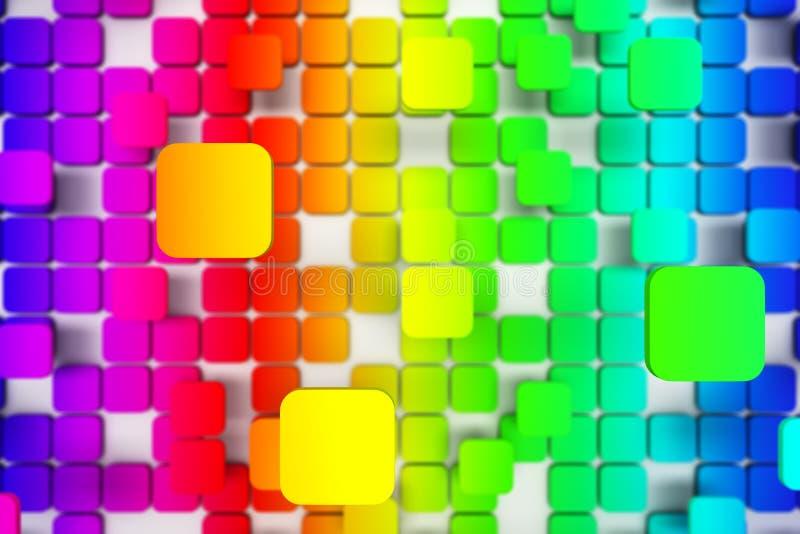 belagt med tegel färgrikt för bakgrund stock illustrationer