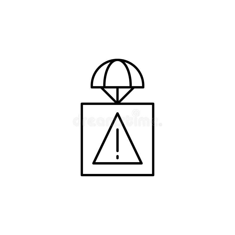 belangrijk pakketpictogram Element van hommels voor mobiele concept en Web apps illustratie Dun lijnpictogram voor websiteontwerp royalty-vrije illustratie