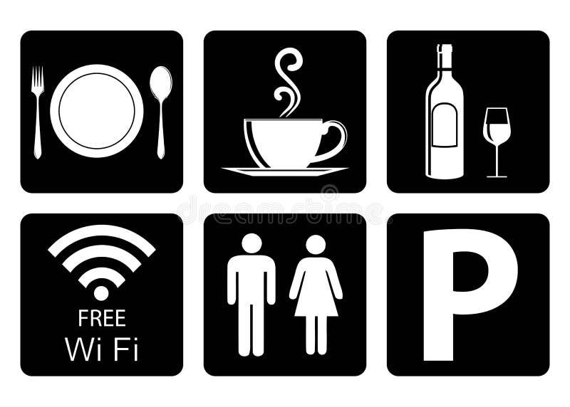 Belangrijk pictogram voor restaurant stock illustratie