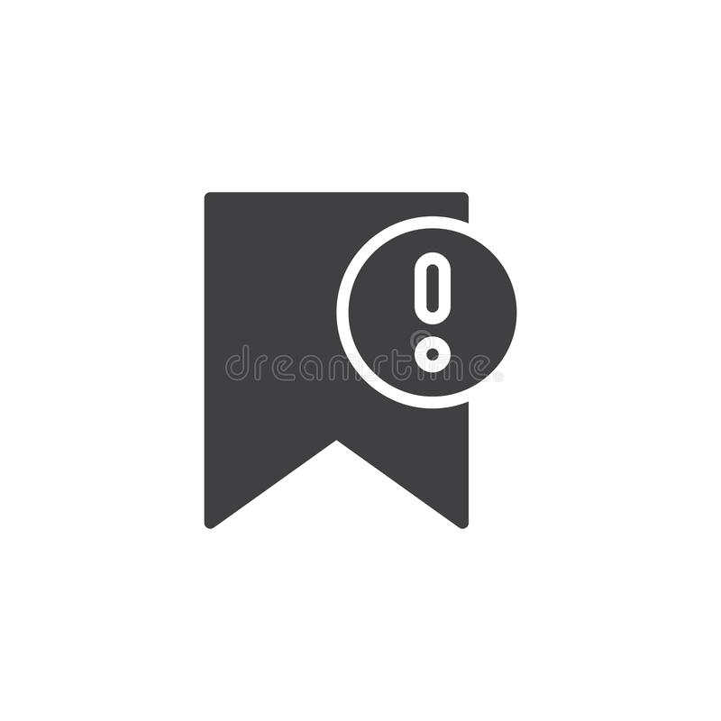 Belangrijk referentie vectorpictogram vector illustratie