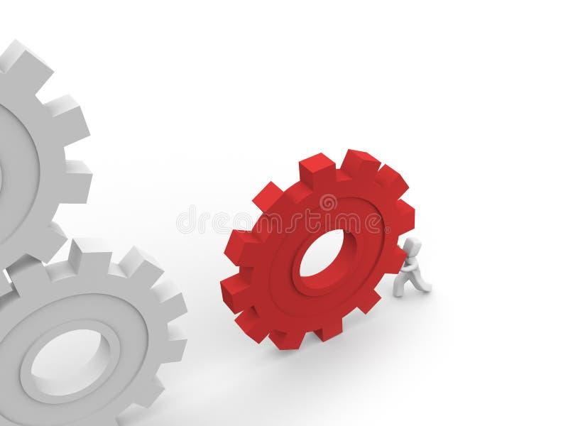 Belangrijk stuk van het mechanisme stock illustratie