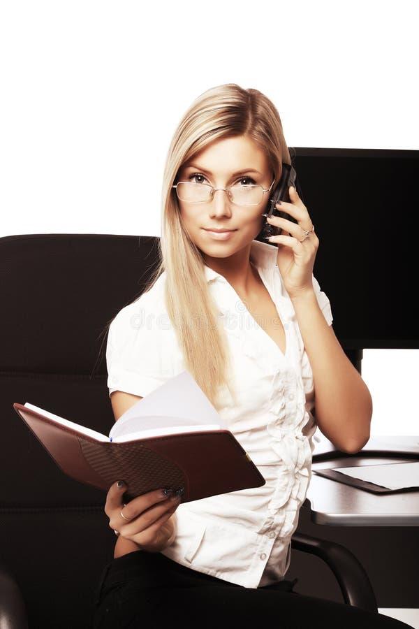 Belangrijk telefoongesprek stock afbeelding