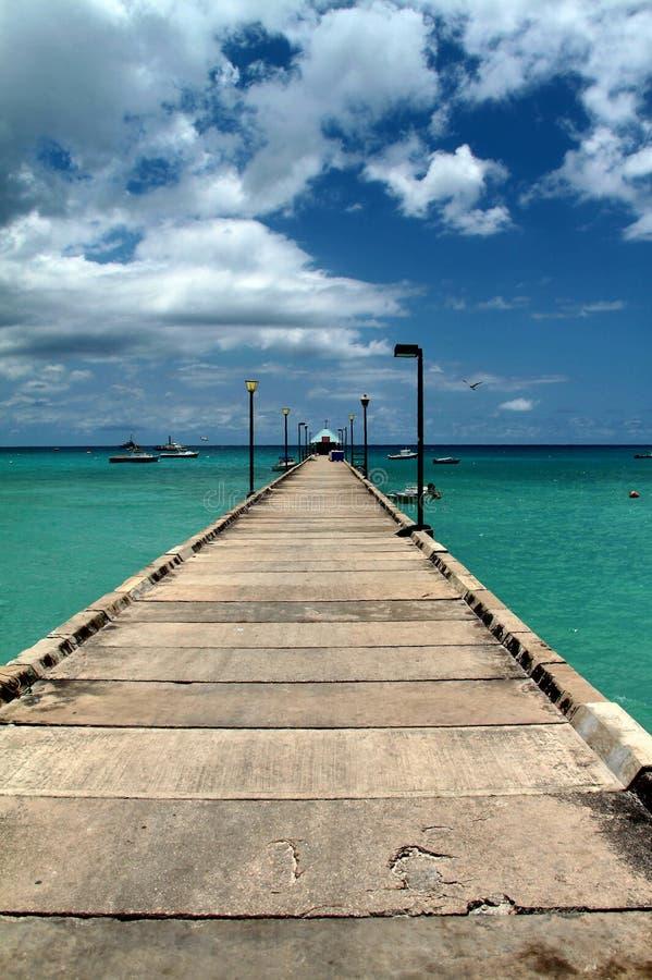 Belangrijke lijnen bij de bootpijler in Barbados royalty-vrije stock afbeelding