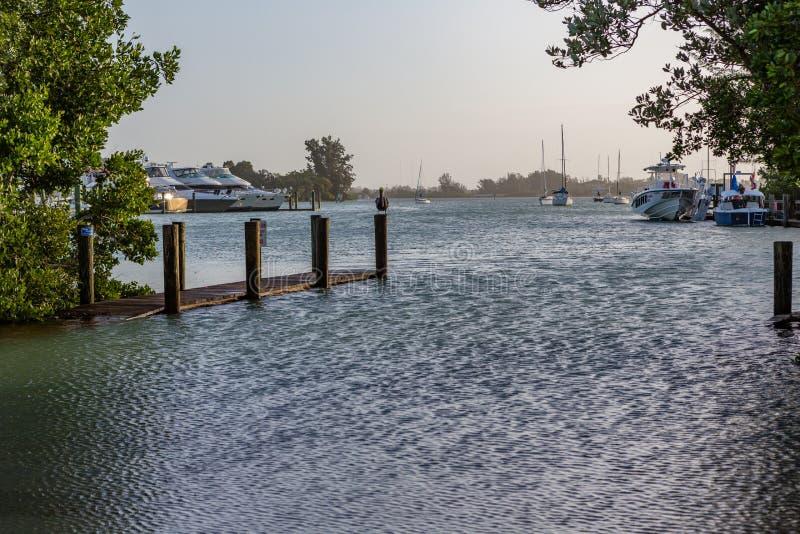 Belangrijke overstroming in Venetië, Florida na nabijgelegen die tornado wordt overgegaan door royalty-vrije stock afbeeldingen