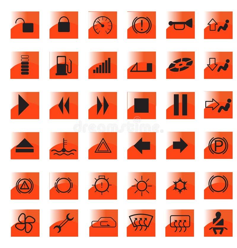 Belangrijke tekens stock illustratie