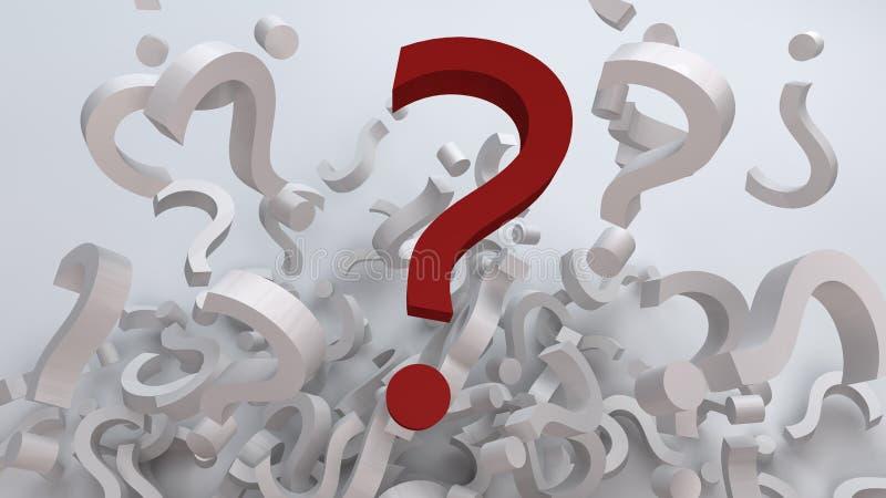 Belangrijke Vragen royalty-vrije illustratie