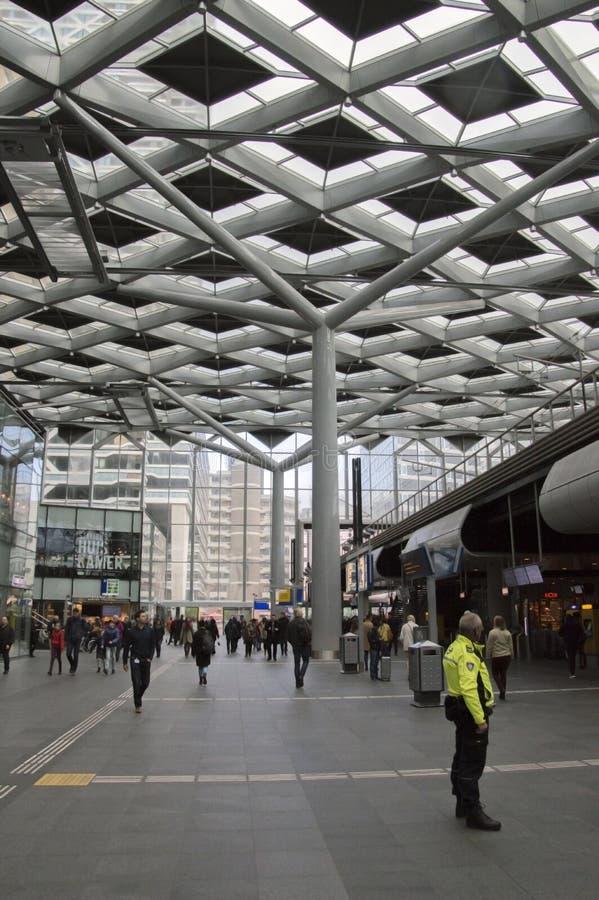 Belangrijkst Hall At The Central Station van Den Haag The Netherlands 2018 stock fotografie