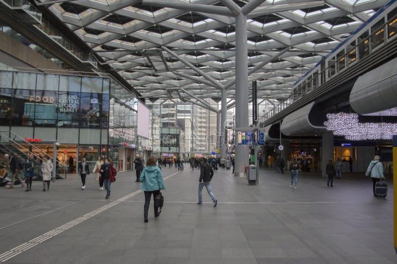 Belangrijkst Hall At The Central Station van Den Haag The Netherlands 2018 stock foto