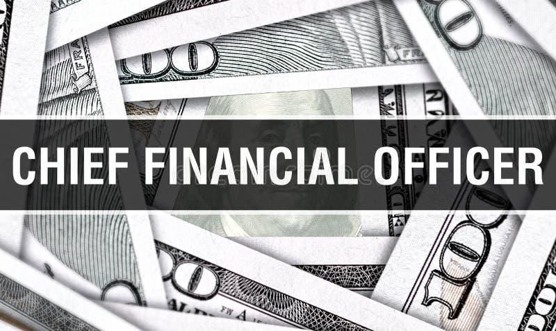 Belangrijkste Financiële Ambtenaar Closeup Concept Het Amerikaanse Geld van het Dollarscontante geld, het 3D teruggeven Belangrij royalty-vrije stock afbeelding