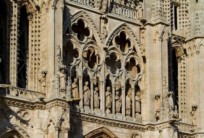 Belangrijkste Voorzijde van de Kathedraal van Burgos. Spanje stock afbeelding