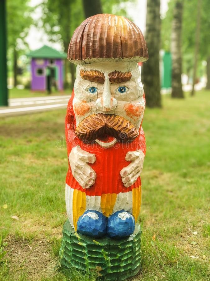 Belarus, Bobruisk - August 15, 2019: Sculpture - Mushroom Borovik stock image