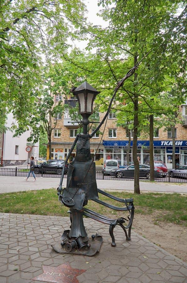 Belarus. Sculptural composition on the avenue of Brest. May 23, 2017. Belarus. Brest. Sculptural composition on the avenue of Brest. May 23, 2017 stock photos