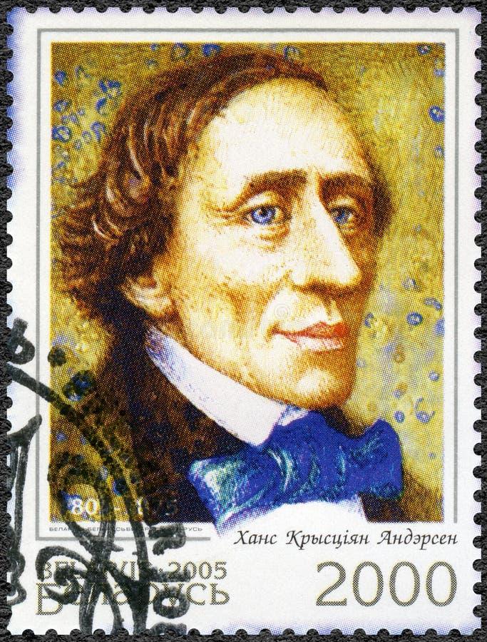BELARUS - 2005: shows Hans Christian Andersen 1805-1875, writer royalty free stock photo